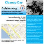 California Coastal Cleanup Day Flier