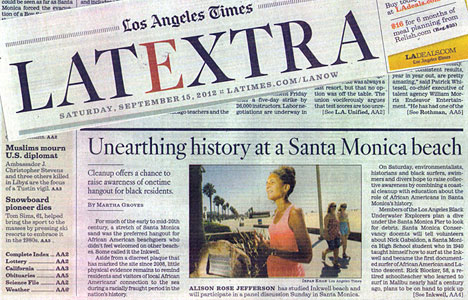 "LA Times Article: ""Unearthing History at a Santa Monica Beach"""