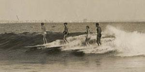 Nick Gabaldon surfing