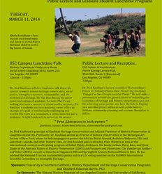 SAVE THE DATE: Leader in Historic Preservation Thought and Activism, Dr. Ned Kaufman Will Speak in Southern California, March 11 and 13, 2014