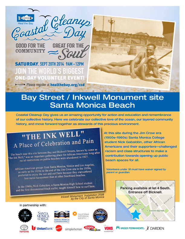 Coastal Cleanup Day 2014 flyer