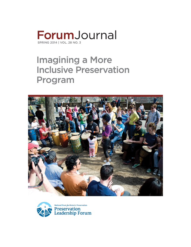 Forum Journal: Imagining a More Inclusive Preservation Program, spring 2014 (click here)