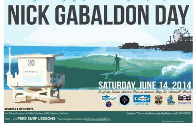 Nick Gabaldón Day 2014 Kicks of the Summer Season, Sat., June 14, at Santa Monica's Historical African American Beach Gathering Place From Another Era