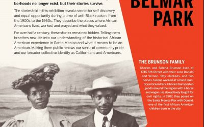 Belmar History + Art, a Santa Monica Commemorative Justice Initiative Continues Rolling Out 2020–2021